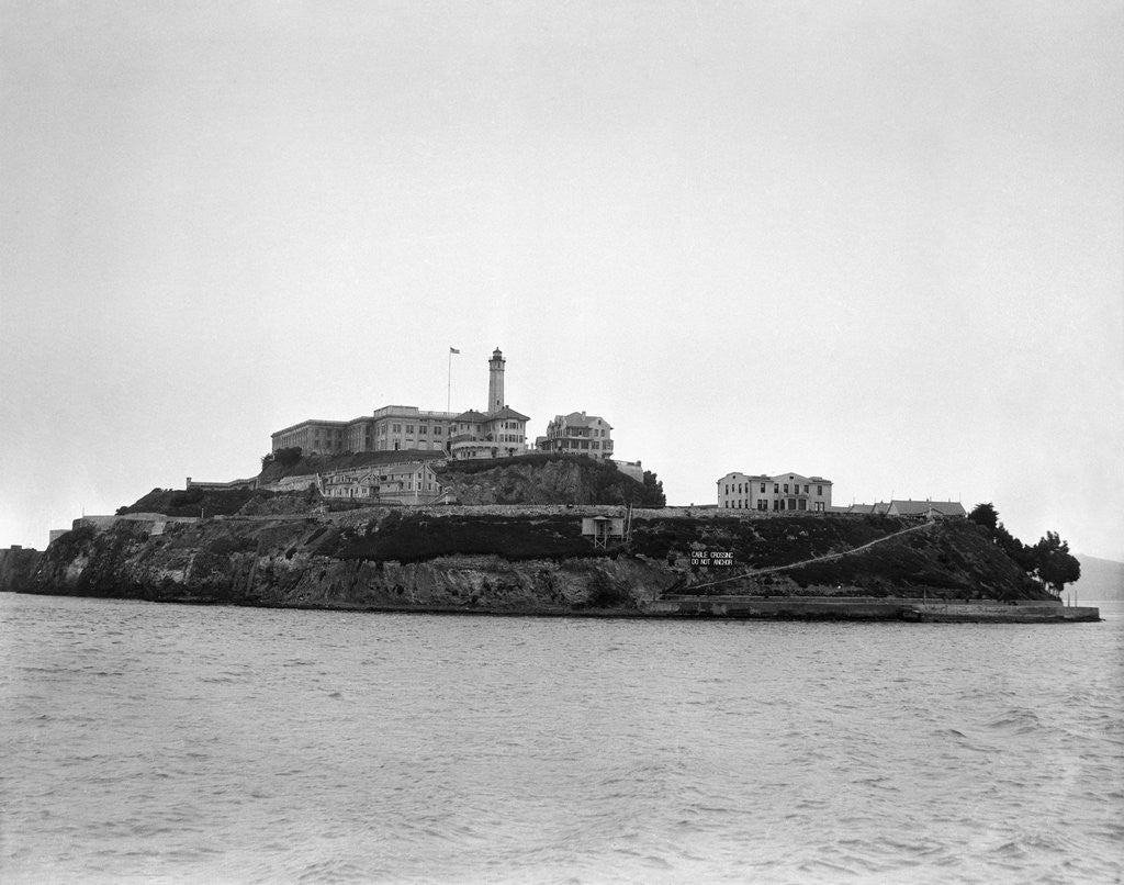Detail of Alcatraz Island from Sea Level by Corbis