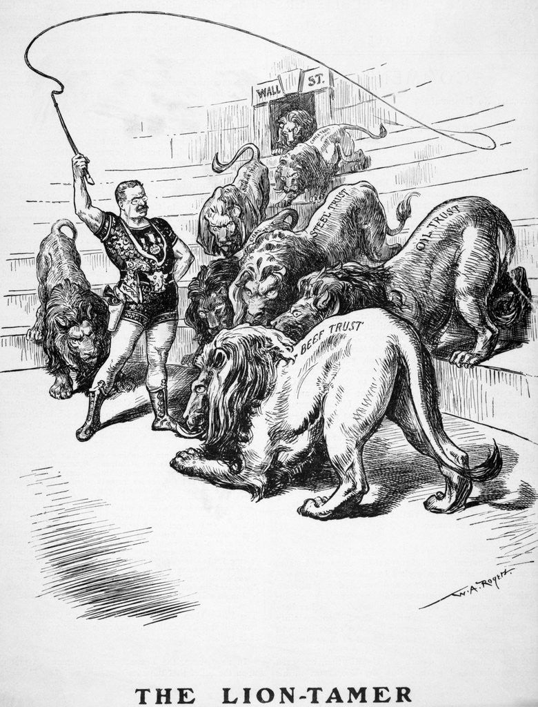 Detail of The Lion-Tamer Political Cartoon by Corbis