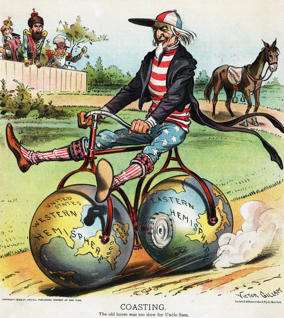 Detail of Coasting Political Cartoon by Victor Gillam