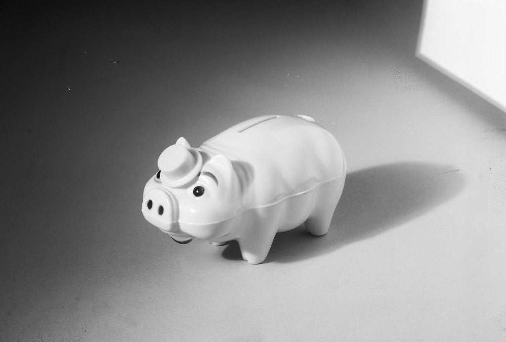 Detail of Close-Up of a Piggy Bank by Corbis