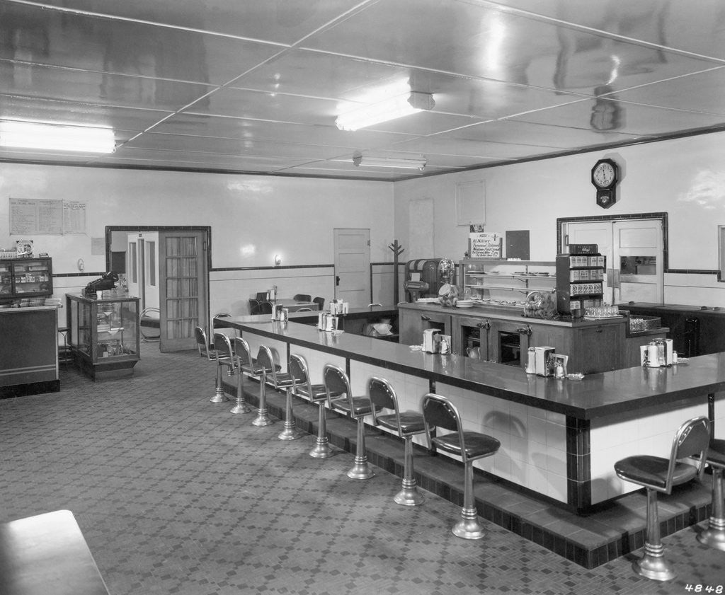 Detail of Interior Of An Empty Diner by Corbis