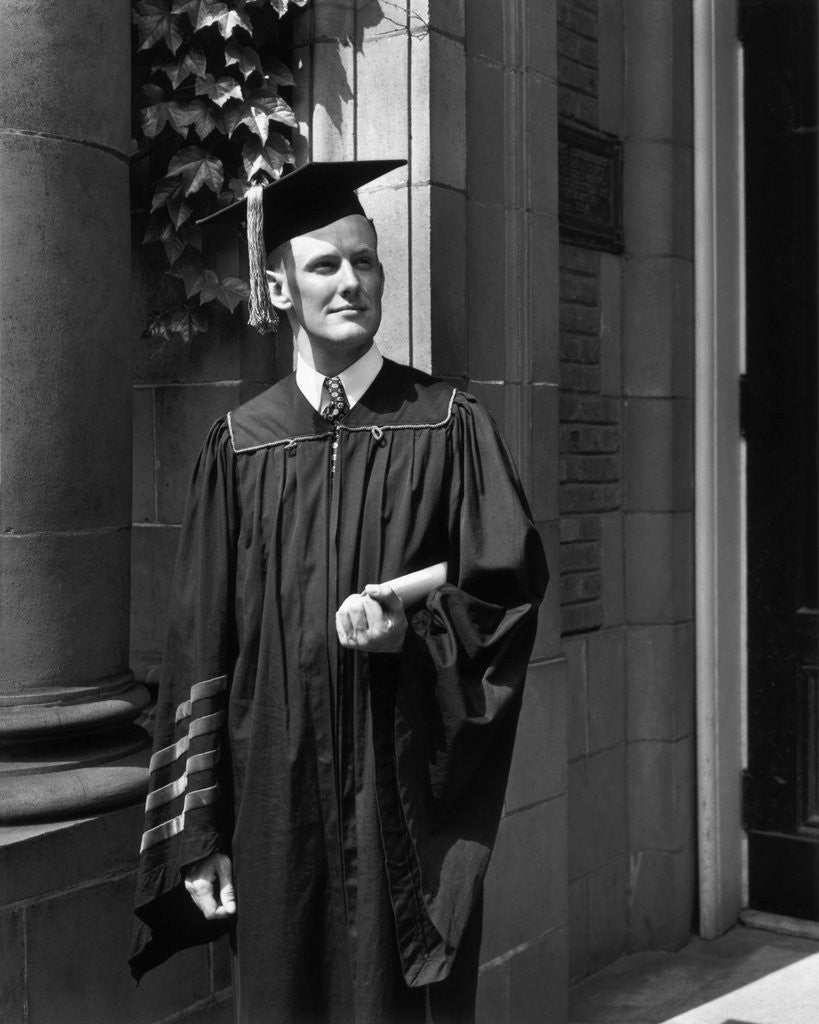 Princeton University Graduate in Gown and Mortarboard posters ...