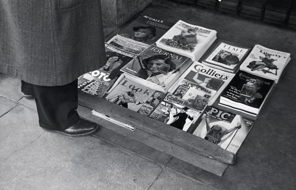 Detail of Display Of Leading Journals Of The 30S by Corbis