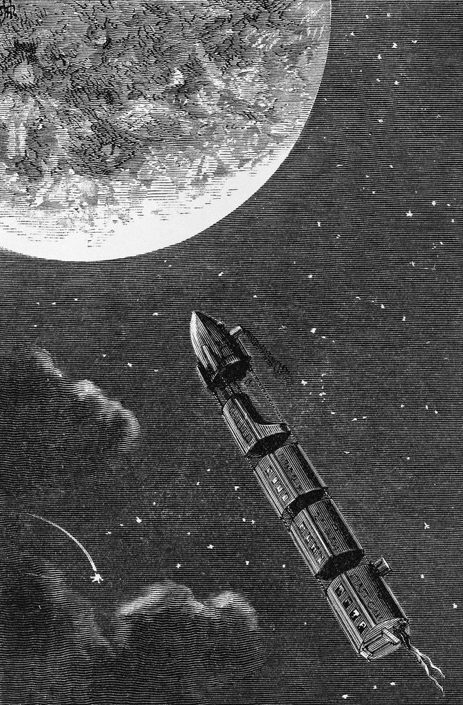 Detail of Illustration from From the Earth to the Moon by Jules Verne