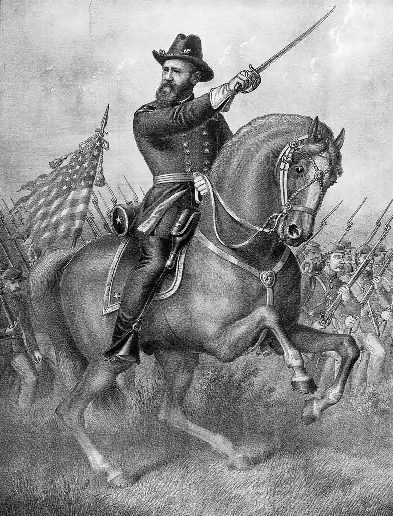 Benjamin Harrison Riding Horse/Civil War by Corbis