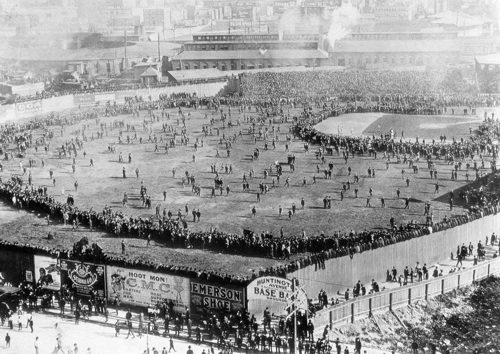 Detail of First World Series Game by Corbis