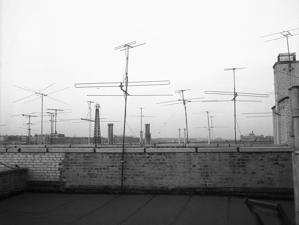 Detail of Antennas on New York Rooftops by Corbis