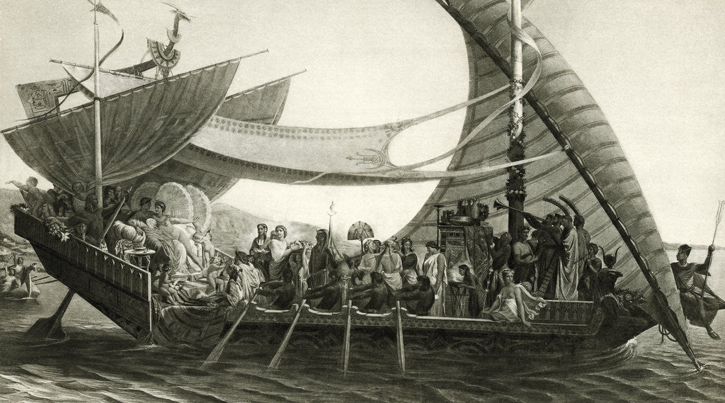 Detail of Cleopatras Barge On Nile/Illustration by Corbis