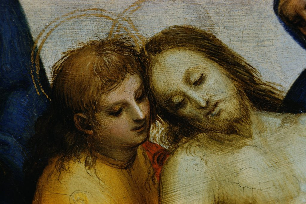 Detail of Detail of Jesus and Saint Nicodemus from Pieta by Raphael