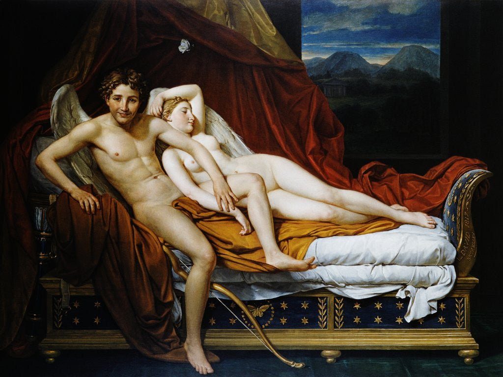 Detail of Cupid and Psyche by Jacques-Louis David