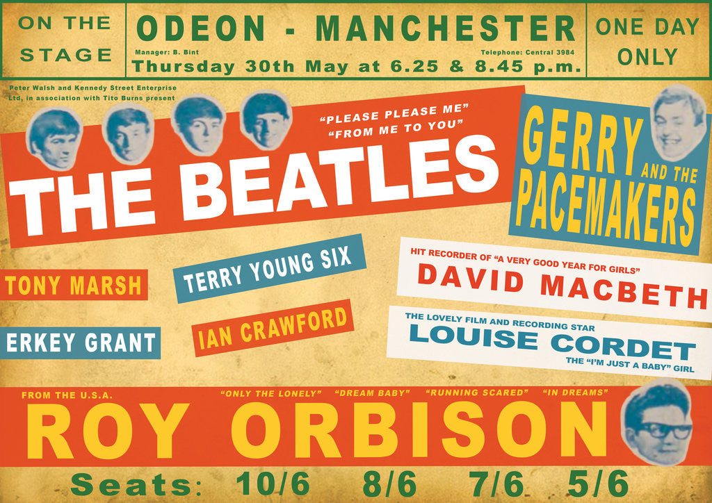 Detail of Beatles Concert Poster by Rokpool