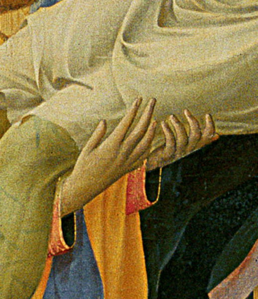 Detail of Detail of Santa Trinita Altarpiece by Fra Angelico