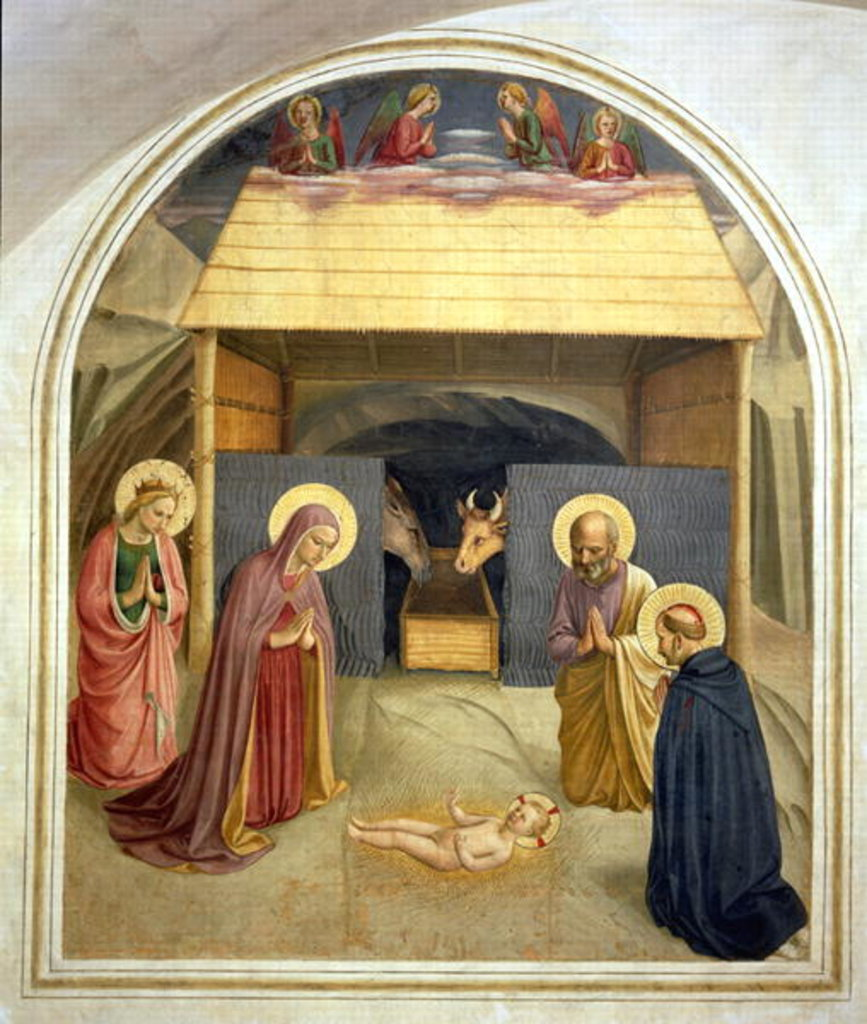 Detail of Nativity, with St. Catherine of Alexandria and St. Peter the Martyr, 1442 by Fra Angelico