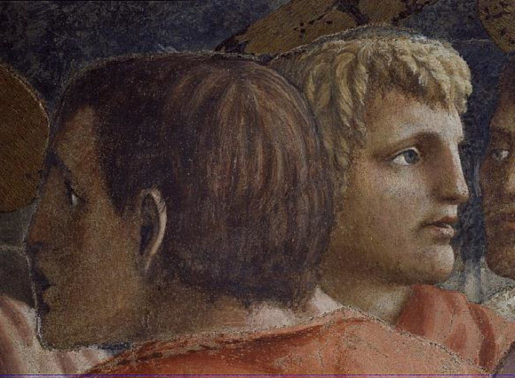 Detail of Tribute Money c.1427 by Tommaso Masaccio