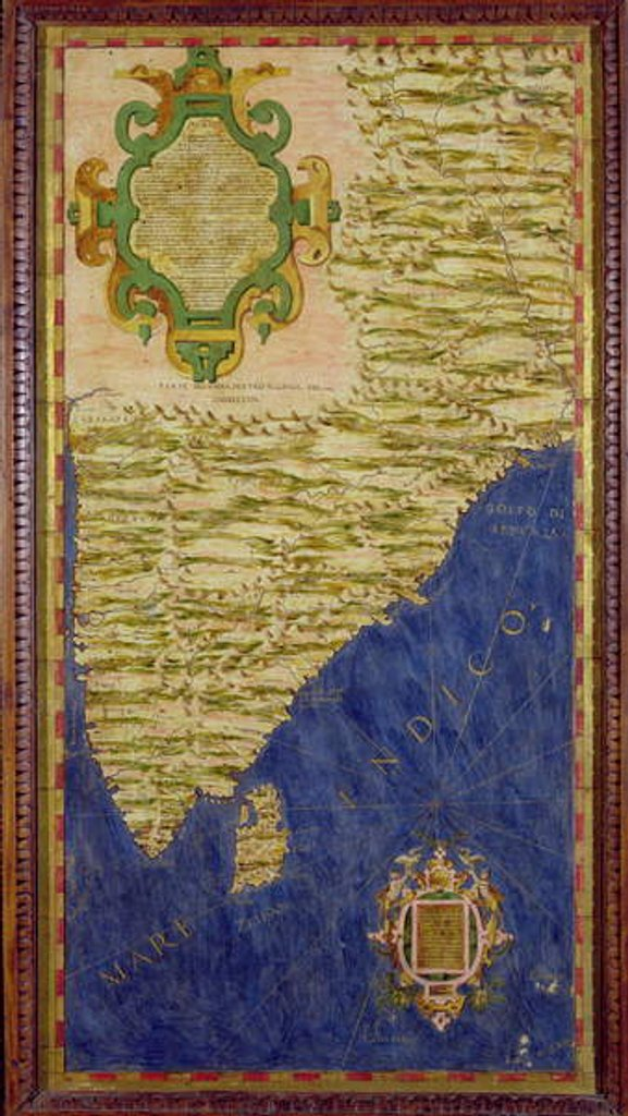 Detail of Map of India and Ceylon by Egnazio Danti