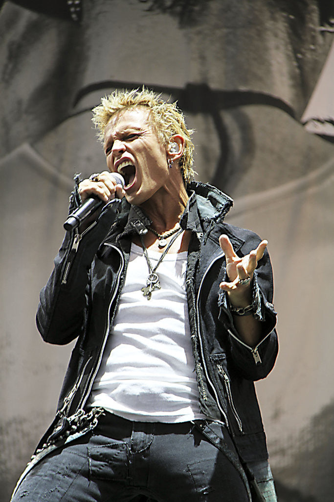 Detail of Billy Idol (2) by Karen Toftera