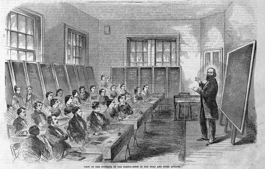 Detail of Class for Deaf and Dumb Students by Corbis