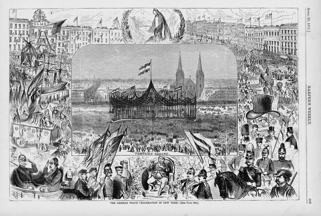Detail of Celebrating the End of the Franco-Prussian War by Corbis