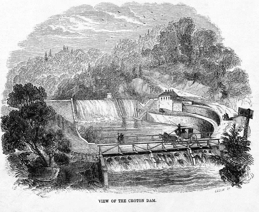 Detail of Croton Dam by Corbis