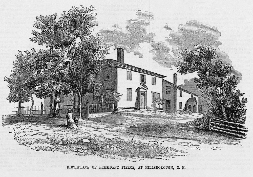 Detail of Birthplace of Franklin Pierce by Corbis