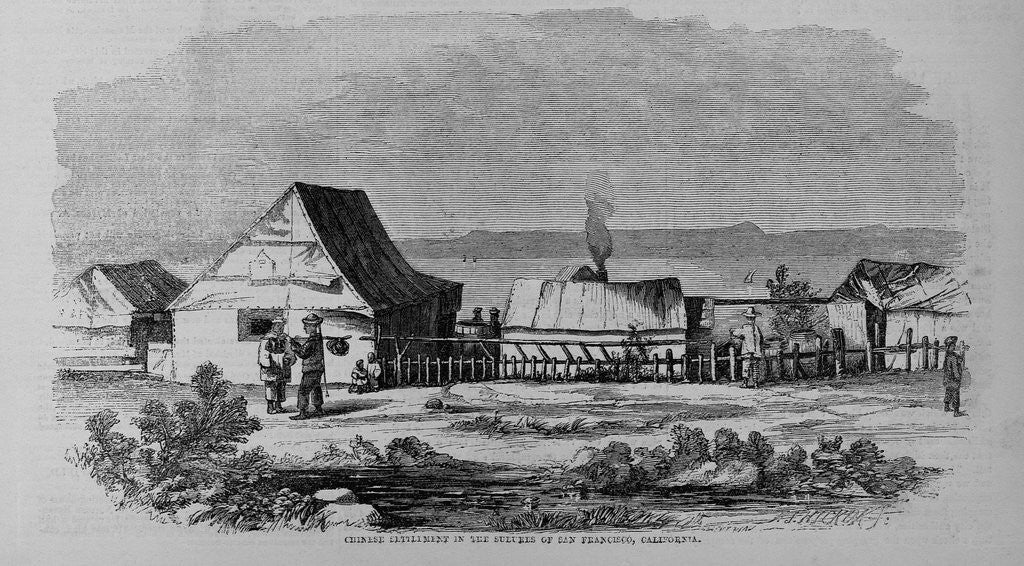 Chinese Settlement in the Suburbs of San Francisco, California