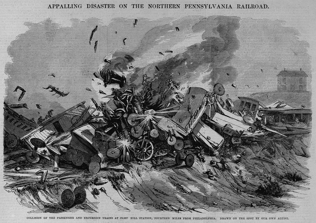 Detail of Collision of the Passenger and Excursion Trains at Camp Hill Station, Fourteen Miles from Philadelp by Corbis