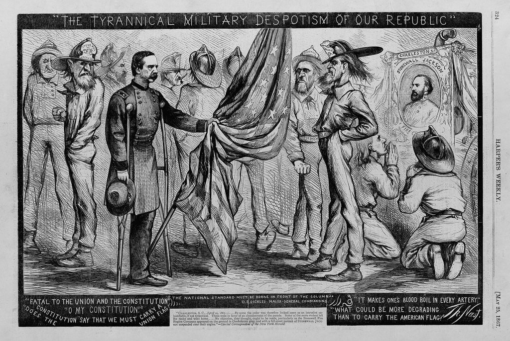 Detail of The tyrannical military despotism of our republic by Corbis
