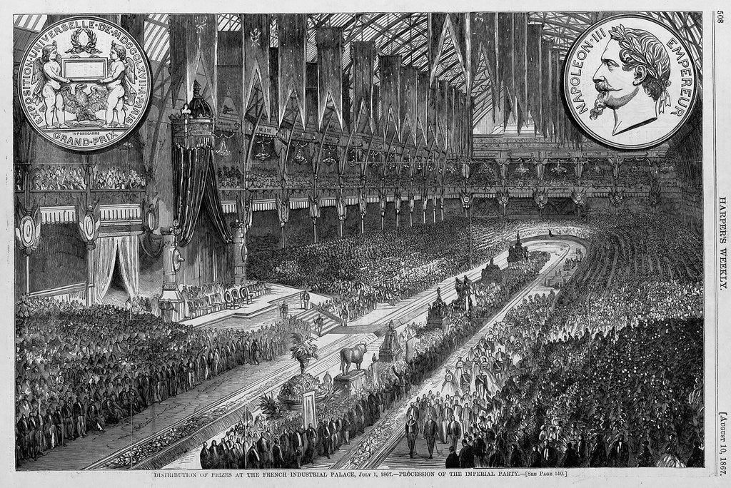 Detail of Distribution of prizes at the French Industrial Palace, July 1, 1867 by Corbis