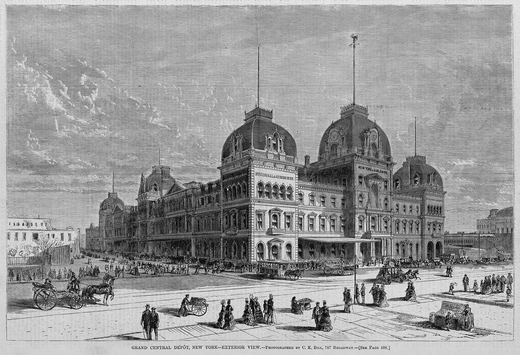 Detail of Grand Central Depot, New York, Exterior View by Corbis