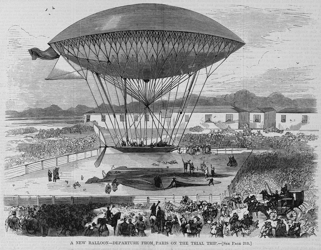 Detail of A New Balloon - Departure From Paris on the Trial Trip by Corbis