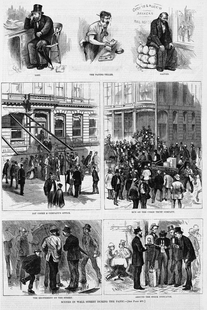 Detail of Scenes in Wall Street during the panic by Corbis