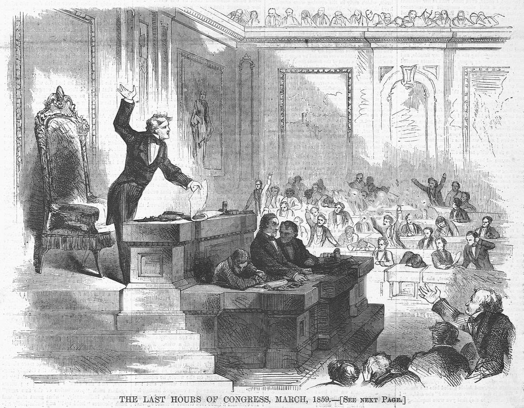 Detail of The Last Hours of Congress, March, 1859 by Corbis