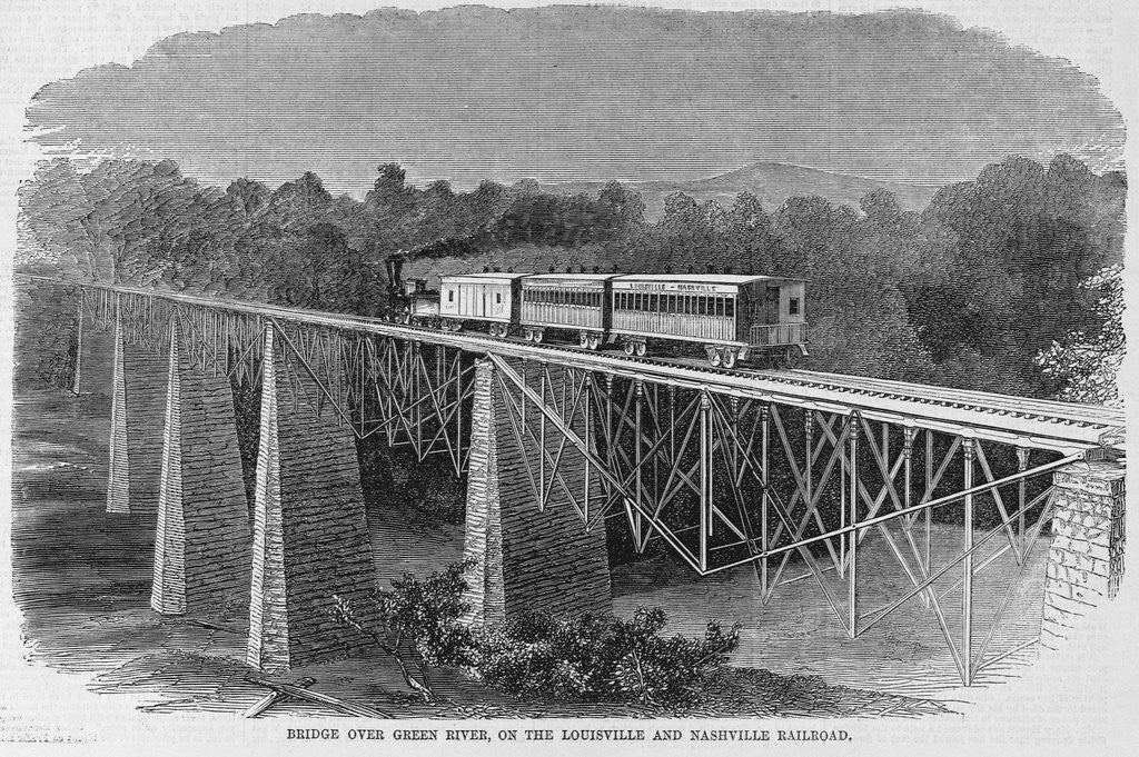 Detail of Bridge over Green River, on the Louisville and Nashville railroad by Corbis
