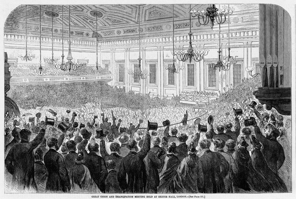 Detail of Great Union and Emancipation Meeting Held at Exeter Hall, London by Corbis