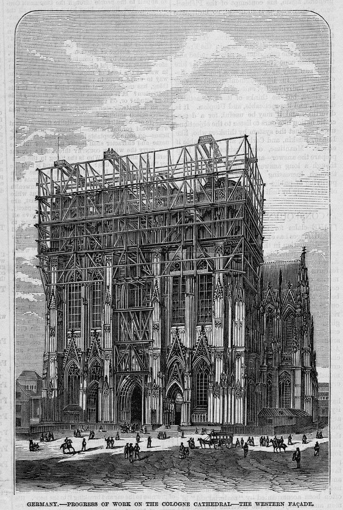 Detail of Germany - Progress of work on the Cologne Cathedral - The western facade by Corbis