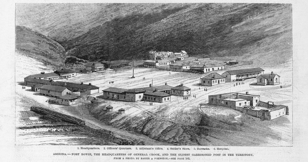 Arizona - Fort Bowie, the headquarters of General Crook, and the oldest  garrisoned post in the territory