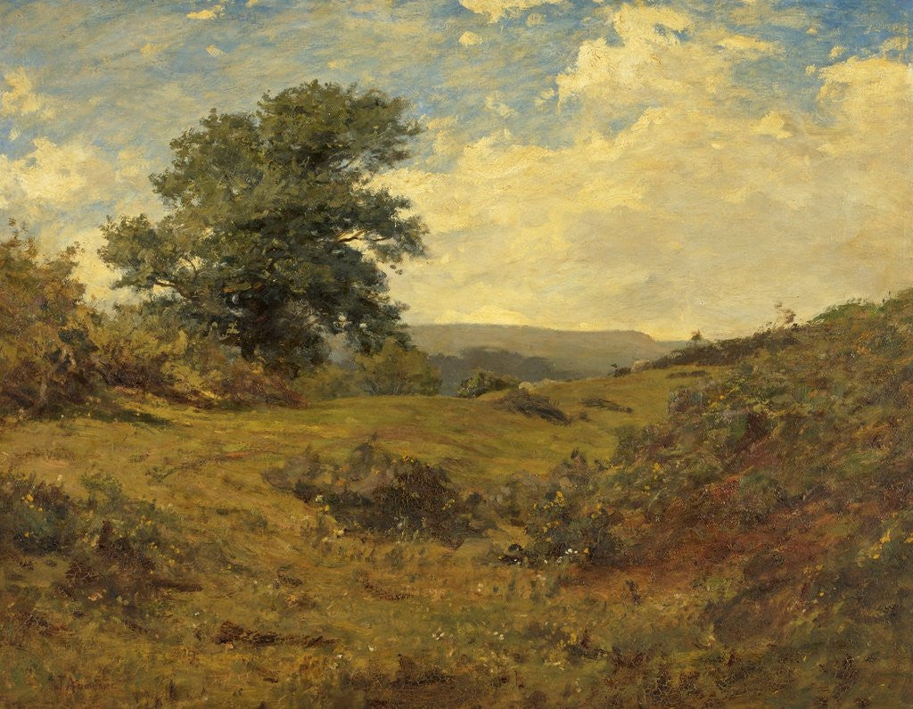 Detail of Landscape by James Aumonier