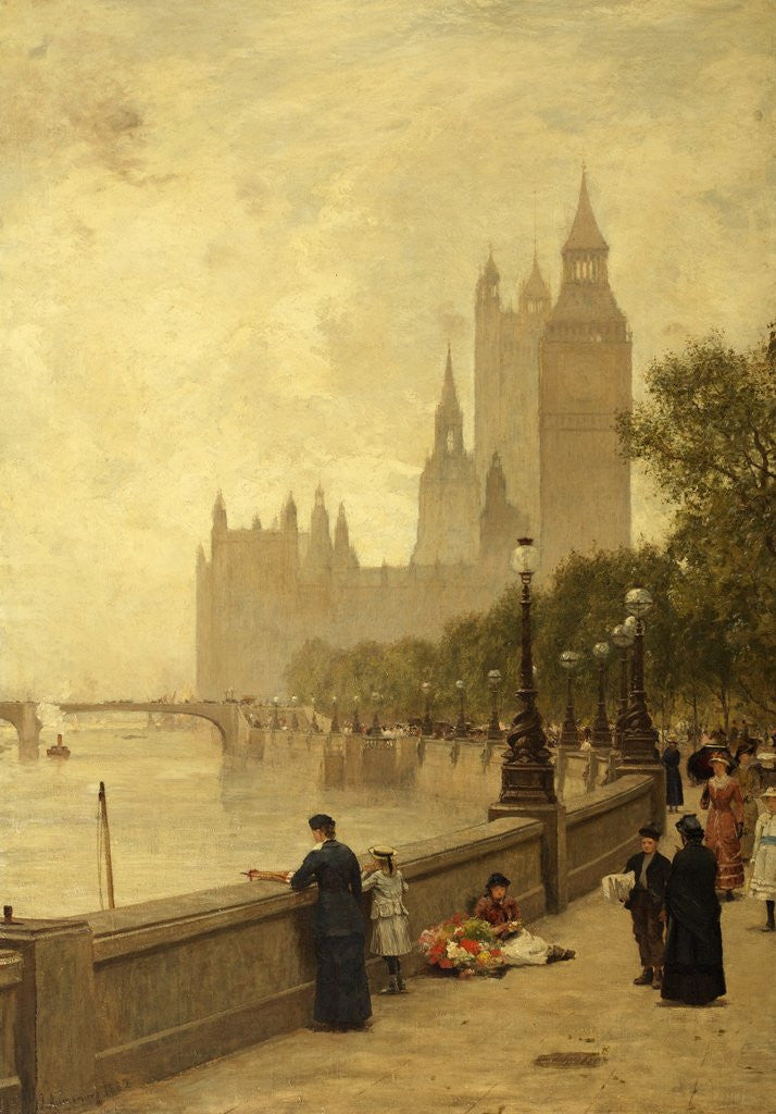 Detail of The Thames Embankment by James Aumonier