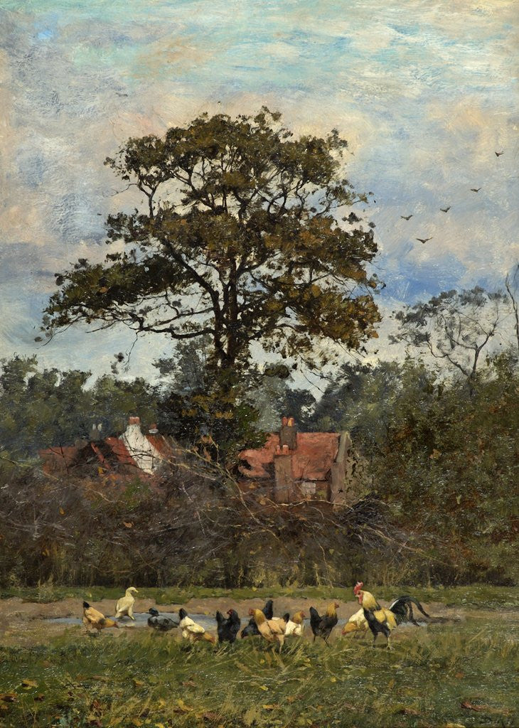 Detail of Landscape with Poultry by William Baptist Baird