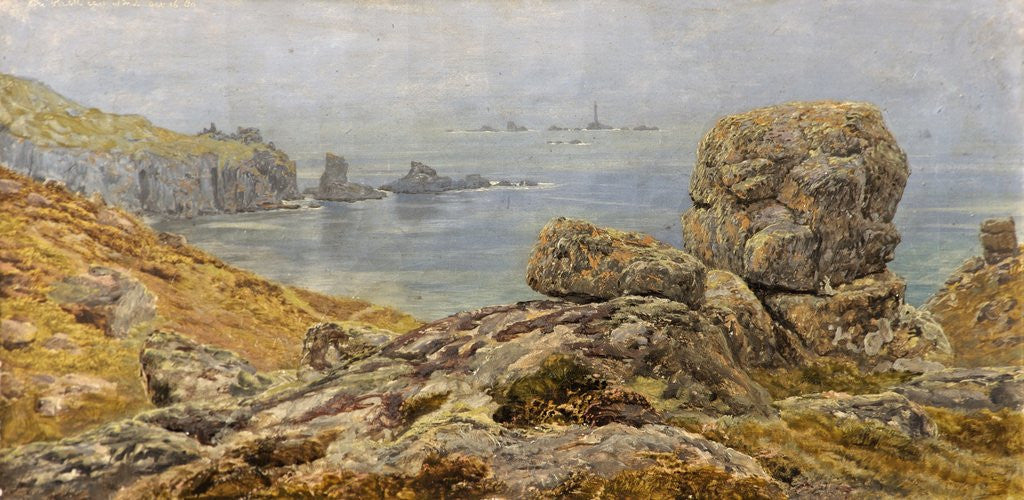 Detail of The Land's End, Cornwall by John Brett