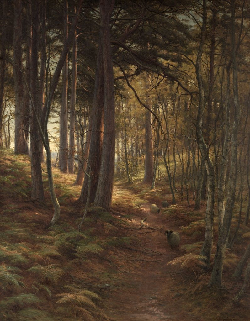 Detail of The Silent Evening Hour by Joseph Farquharson