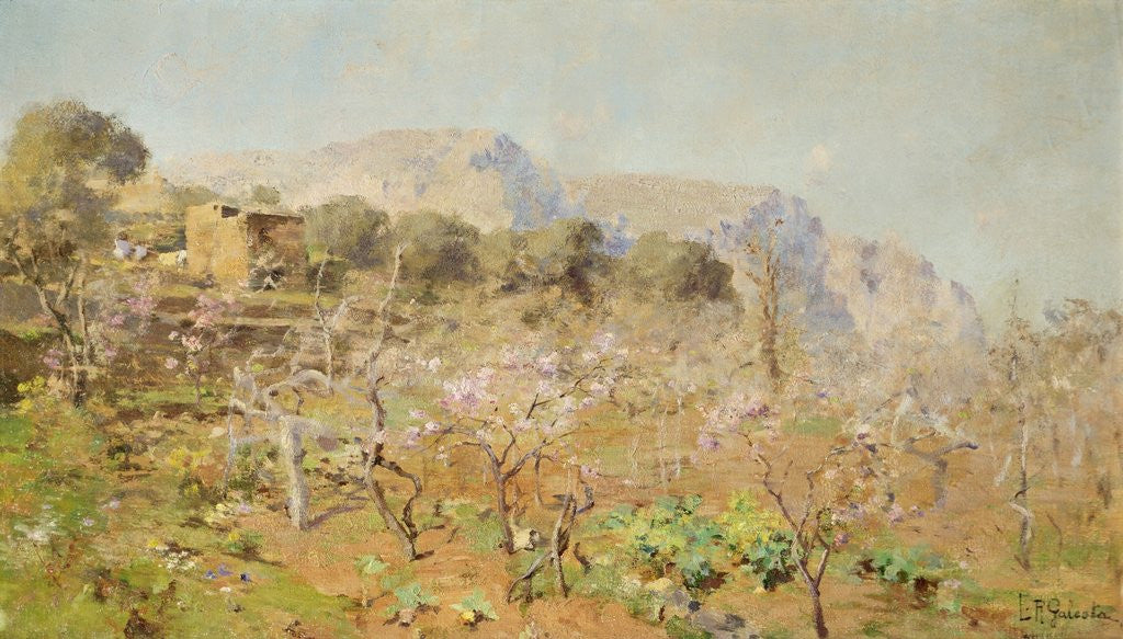 Detail of Orchard on a Mountainside by E. R. Galesta