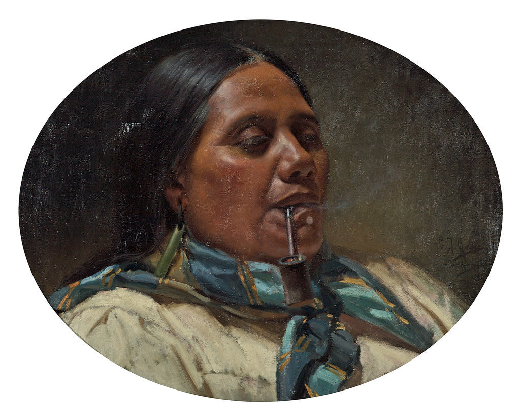 Detail of Maori Woman by Charles Frederick Goldie