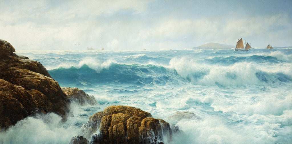 Detail of A Breezy Day, Cornwall by David James