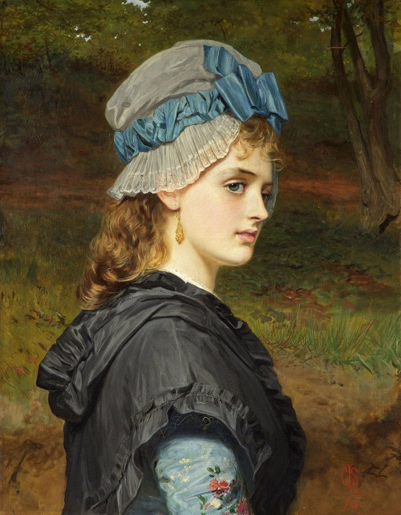 Detail of A Girl's Head by Charles Sillem Lidderdale
