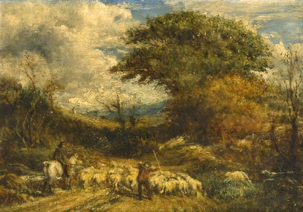 Detail of Driving Sheep, Surrey by John Linnell