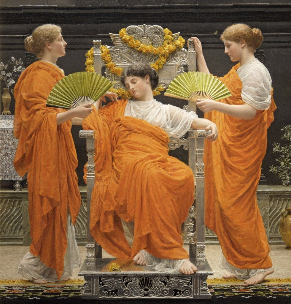 Detail of Midsummer by Albert Joseph Moore