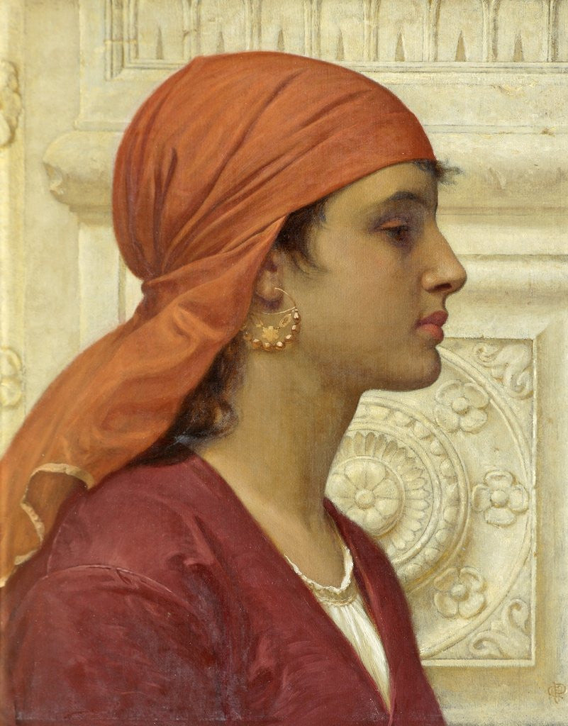 Detail of A Capri Girl by Charles Edward Perugini