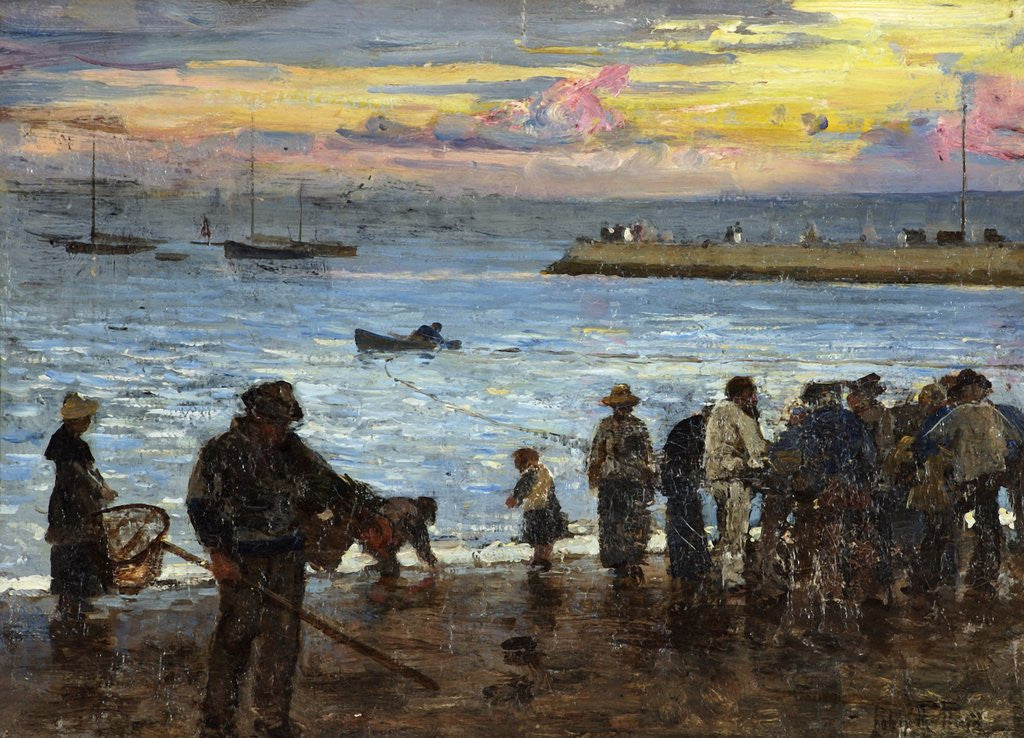 Detail of Watching the Fishing Boats by John Robertson Reid