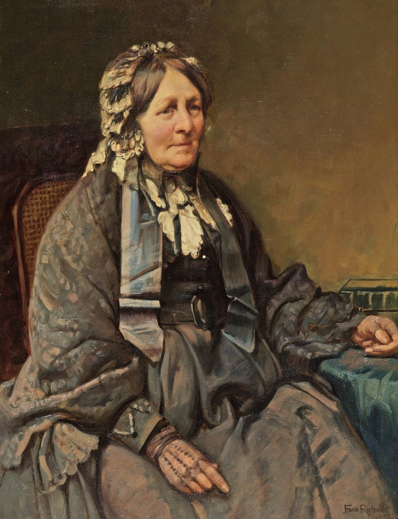 Detail of Mrs Samuel Cotes by Frank Richards